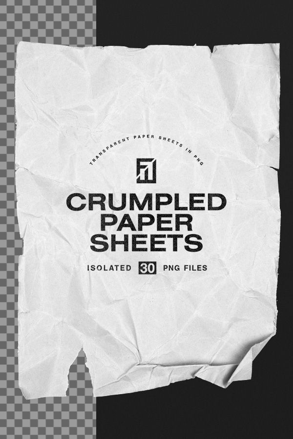 Crumpled Paper Sheets In Png Texture Graphic Design Crumpled Paper Creative Poster Design