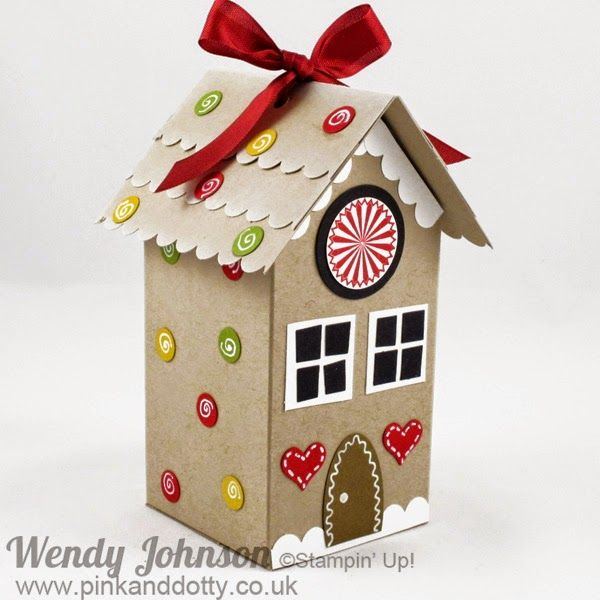 Pink and Dotty: Stampin' Up! Christmas Gift Box Gingerbread House