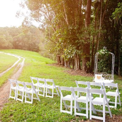Port Douglas Wedding Arch Hire Garden seat and chairs