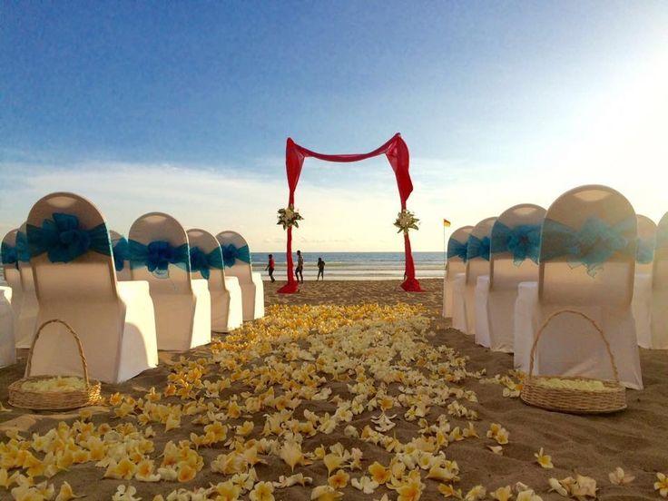 Gorgeous beach ceremony in Seminyak <3  http://www.balibrides.com.au/bali-wedding-packages