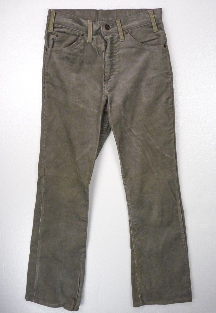Vintage LEVIS 517-1555 Gray CORDUROY Pants 30 x 32 White Tab #Levis