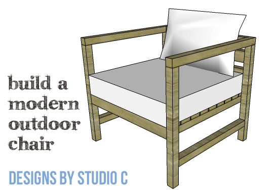 DIY Furniture Plans to Build a Modern Outdoor Chair - Almost looks like the real expensive one!