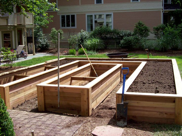 Interesting layout for raised beds