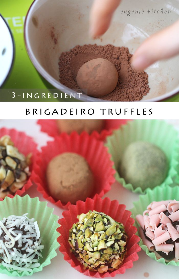 No Bake Truffles -You only need condensed milk, butter and cocoa powder! 3-Ingredients Truffle Chocolate Recipe - Brigadeiro