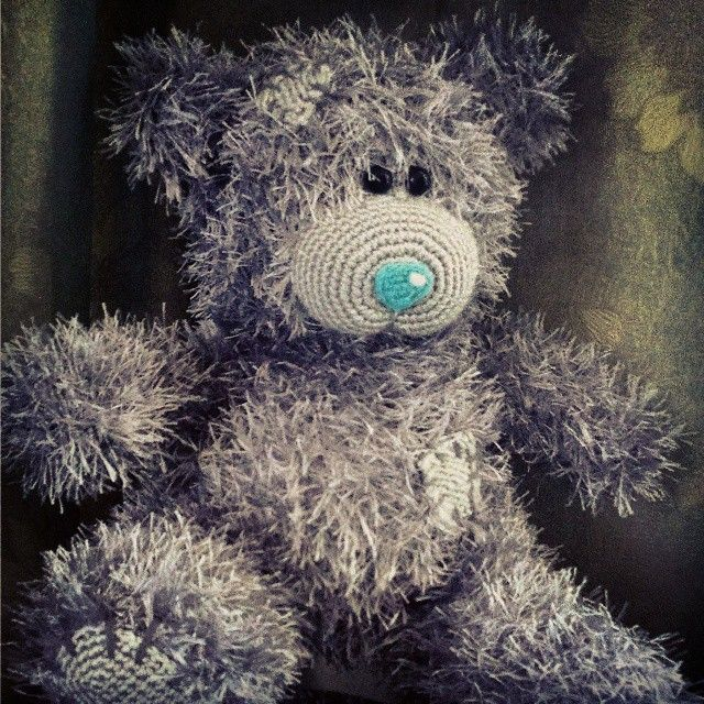 #teddy #teddybears #teddybear  https://www.etsy.com/listing/258121709/grey-hand-knitted-teddy-bear?ref=shop_home_active_19