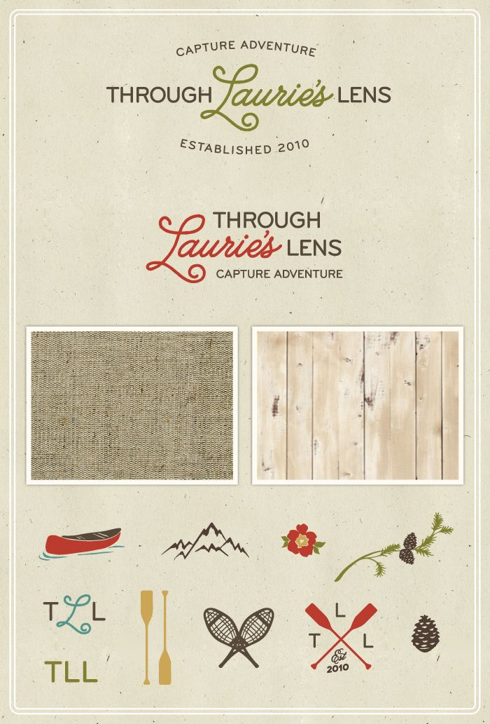 Through Laurie's Lens Photography Brand Board