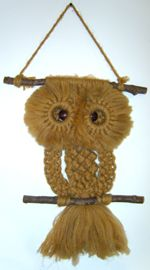 Just wanted to let young art teachers know that in the late 1970's art teachers were expected to teach high school art students how to make macrame owls! We've come a long way, baby (another 60's joke...)