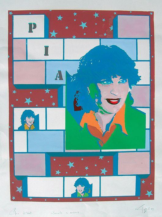 """""""Pia"""" serigrafia 50x70, 1979"""
