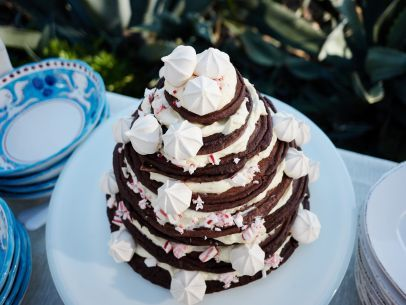 Get this all-star, easy-to-follow Chocolate Candy Cane Tower recipe from Giada De Laurentiis
