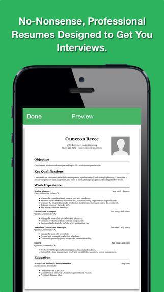 Smart Resume Pro: Resume and CV Designer qrayon, LLC 제작 이력서