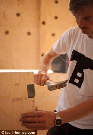 The easy to assemble home is an environmentally friendly alternative to building a new house