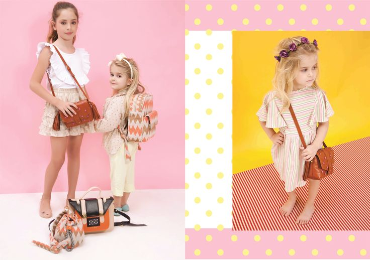Nita Faco Summer Kids Collection. The backpack and bucket bag were made with brazilian recycled fabric. The satchel and little brown are leather.
