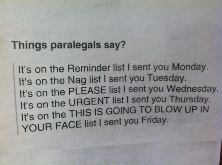 25 best Eight to Five images on Pinterest Lawyer jokes, Paralegal
