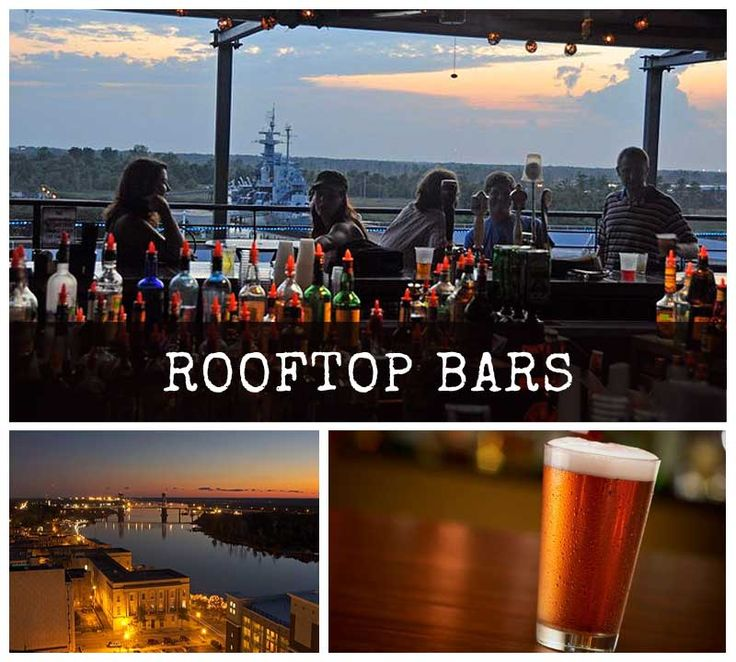 Level 5 rooftop bar, downtown Wilmington. Great view.