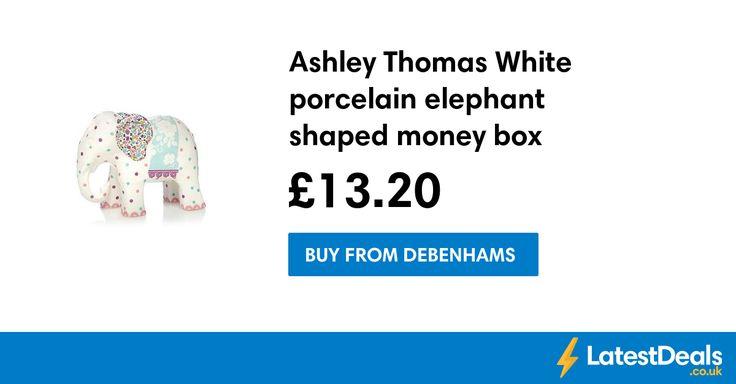 Ashley Thomas White porcelain elephant shaped money box, £13.20 at Debenhams