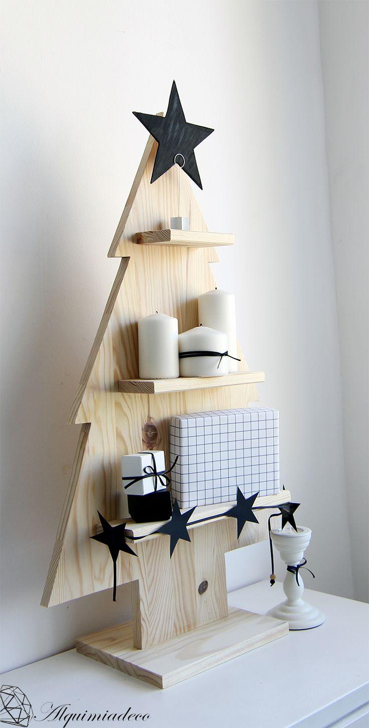 17 mejores ideas sobre adornos navidad de madera en for Trineo madera decoracion