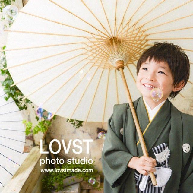 #LOVST#ラブスト#勝どき#子供写真スタジオ#ハウススタジオ #5歳 #着物#袴#七五三