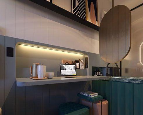 Concept micro hotel room design - Scott Carver