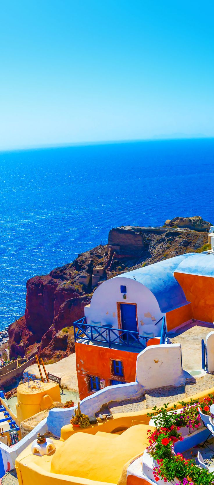 View to the sea from Oia the most beautiful village of Santorini island in Greece    |    10 Breathtaking Photos of World's Most Romantic Island