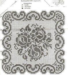 Tanti modelli di tovagliette a filet con schema per realizzarle. Cliccate sulle immagini e sugli schemi per ingrandire e salvare.