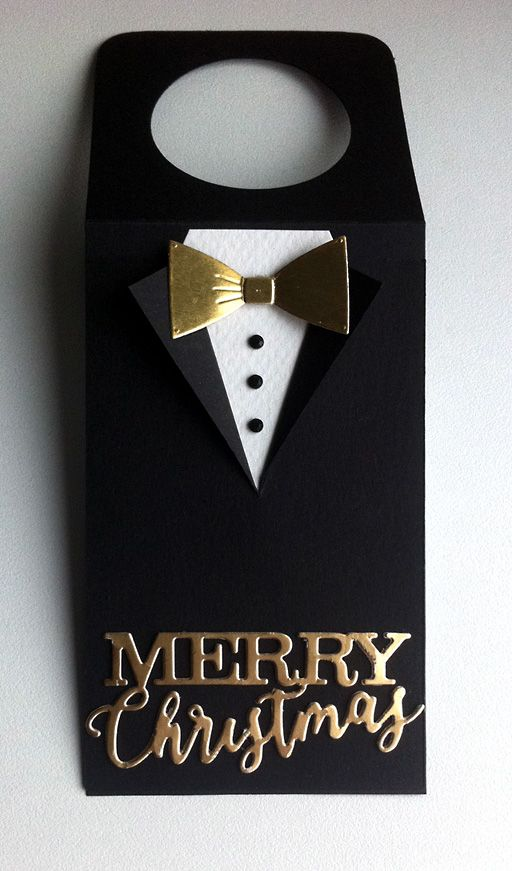 Tag christmas tuxedo suit bowtie golden scripty  Merry christmas IO Impression Obsession - JKE