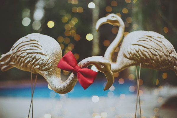 Tropical Holiday Wedding Ideas from sugared