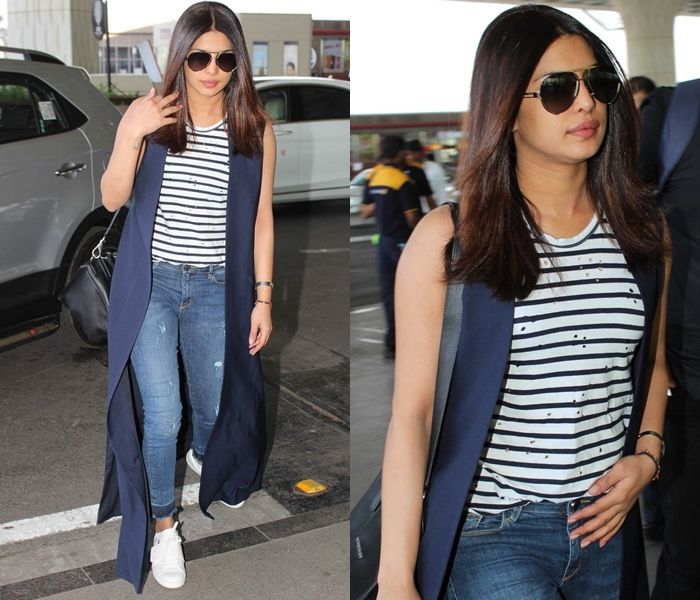 Priyanka Chopra Jeans and TShirt style.