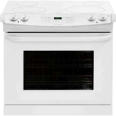 Frigidaire FFED3025PW 30 Inch 4.6 Cu. Ft. Drop-In Smoothtop Electric Range with
