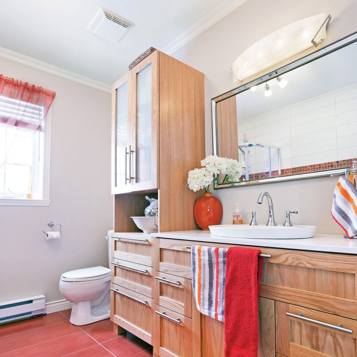 17 meilleures id es propos de d coration salle de bain rouge sur pinterest d coration de for Decoration salle de bain rouge