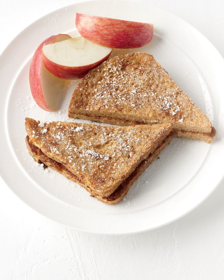 Apple Sandwich Mini Meal | Martha Stewart Living - Create a sandwich that satisfies your fruit and protein requirements with rich peanut butter, crisp, sliced Granny Smith apples, and hearty whole wheat bread.