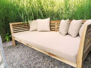 Modernes Daybed Für Drinnen Und Draussen Mit Wasserfesten Und Lichtechten  Polstern, Simple Daybed For Inside. Waterproof CushionsDaybedsBalcony Part 34