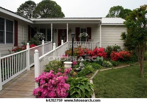 Stock Photograph of Beautiful Home with handicap ramp k4202759 - Search Stock Photography, Photos, Posters, Images, and Photo Clip Art - k4202759.jpg