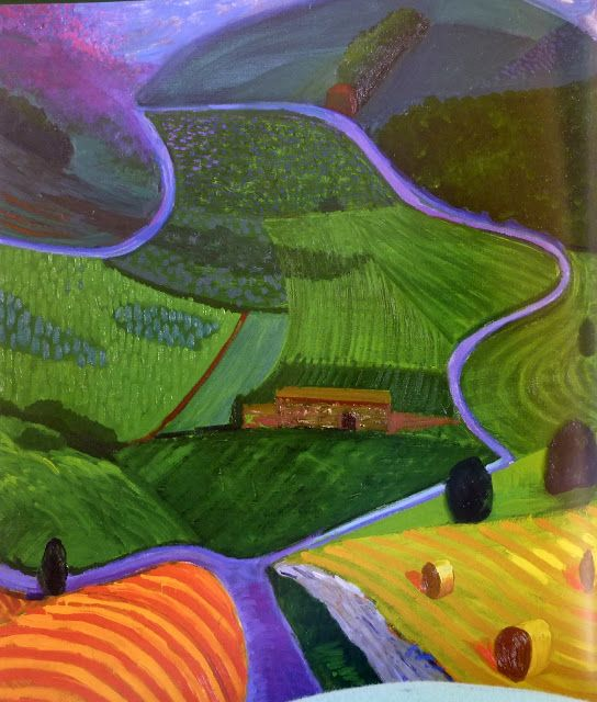 David Hockney - The Road to York Through Sledmere, 1997                                                                                                                                                                                 More
