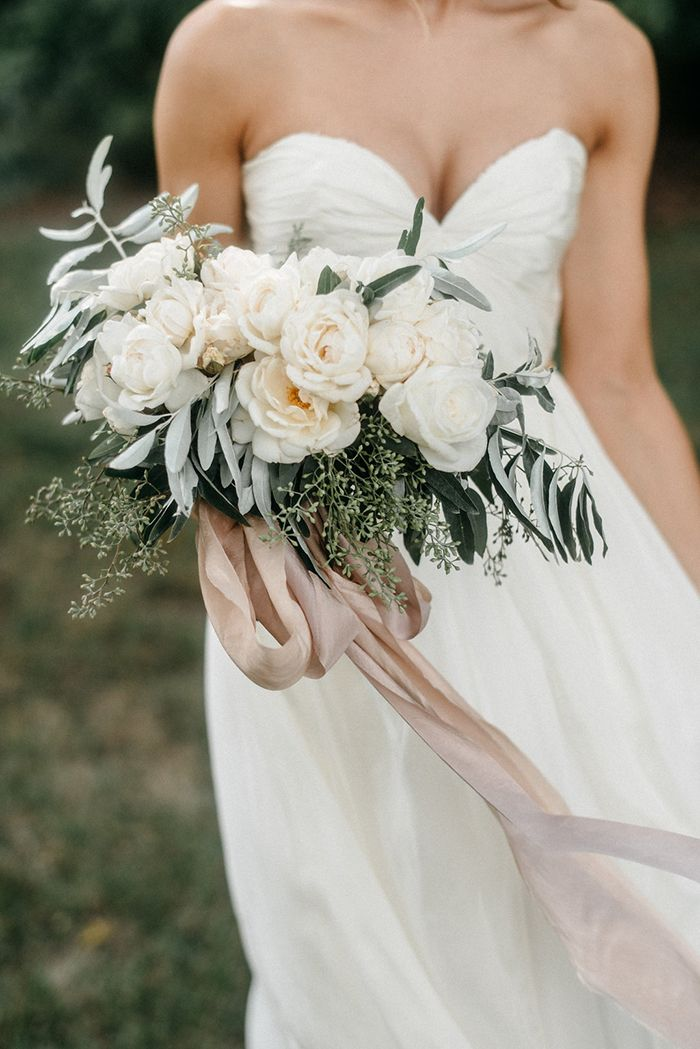 The softest bouquet of roses tied with hand dyed silk ribbon.