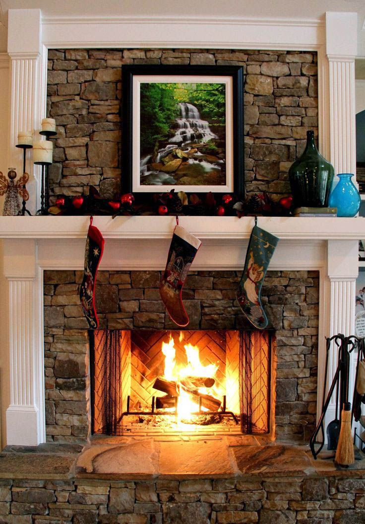 Good Fireplace Stone And Patio Waukee To Refresh Your Home With Images Stacked Stone Fireplaces Fireplace Remodel Fireplace Design