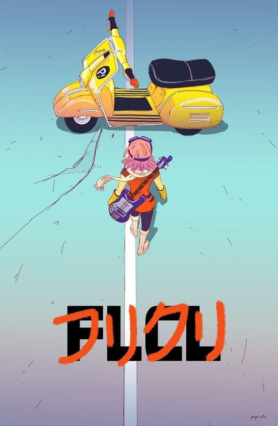 Flcl X Akira Parody Poster In 2020 Flcl Akira Poster Akira
