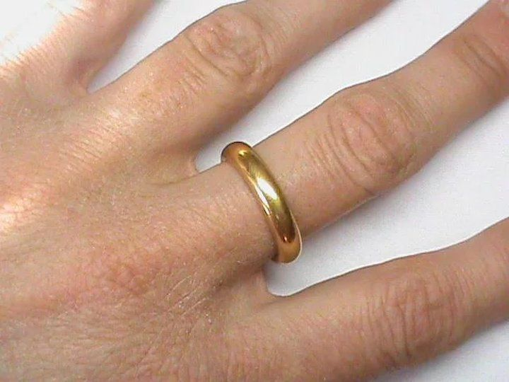 Heavy Large Vintage English 1926 22k 22ct Gold Wedding Band Ring Unusual Wedding Rings Gold Wedding Band Mens Gold Wedding Band