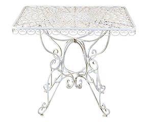 Tavolo da caffe' quadrato in ferro - 90x90x75 cm