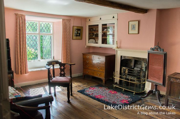 The sitting room upstairs at Dove Cottage in Grasmere, where William Wordsworth wrote his poetry.