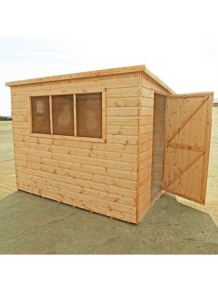 Shire 12x8 Caldey Professional Shiplap / Pine Log Timber PENT Storage Shed