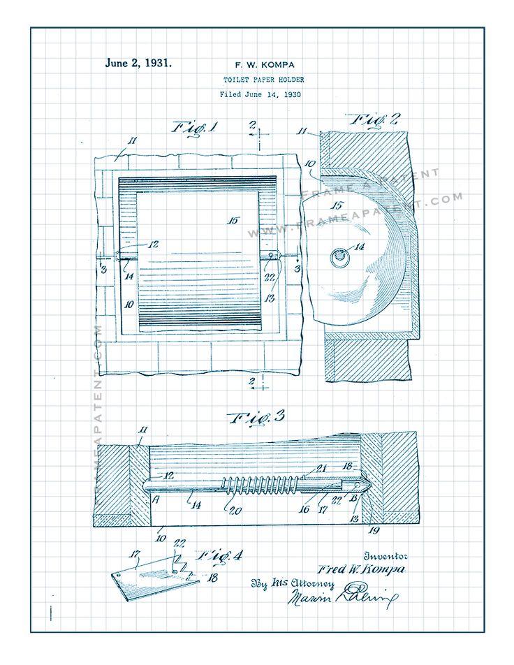 58 Best Bathroom Patent Prints Images On Pinterest