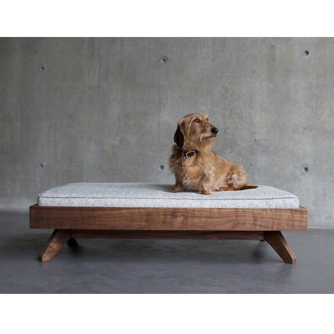 Pup & Kit The Joey Low Back Bed - Cameron Twill Storm Maple