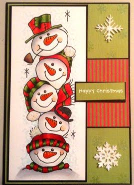 Woodware Snowman Stack card More