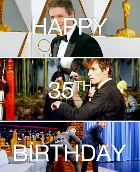 Happy 35th birthday Eddie Redmayne!! January 6th - I'm very happy where I am at the moment, which is literally home with my wife and my child.- Eddie Redmayne