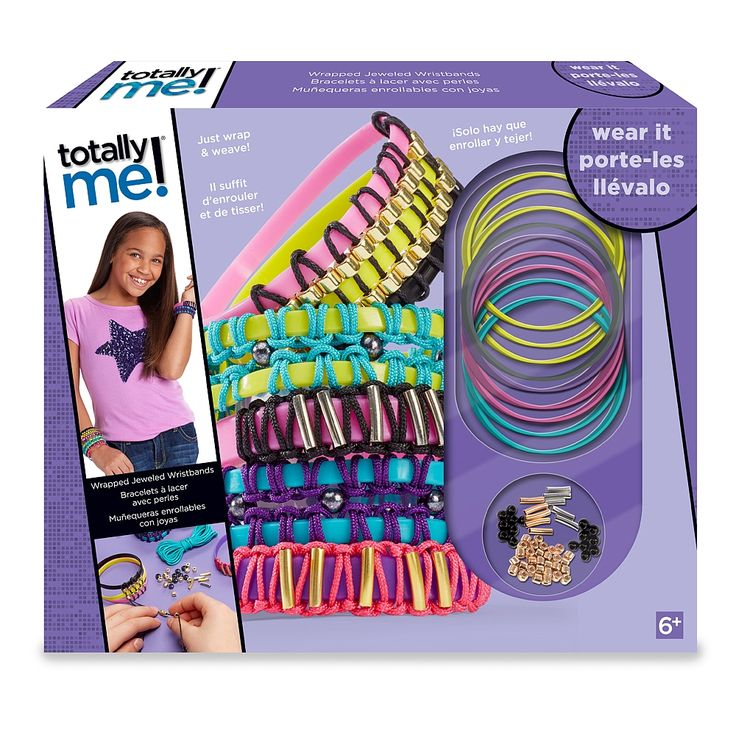 Make a fashion statement with these colorful Wrapped Jeweled Wristbands by Totally Me! This kit includes everything you need to make up to 5 wristbands. Every bracelet is woven and decorated with different trendy colors and beads to help you express your individuality!