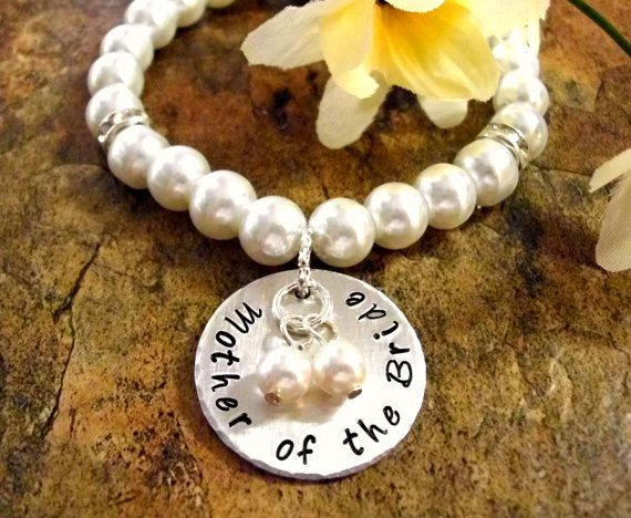 Mother of the Bride Pearl Bracelet MOB Wedding by CharmAccents, $28.00