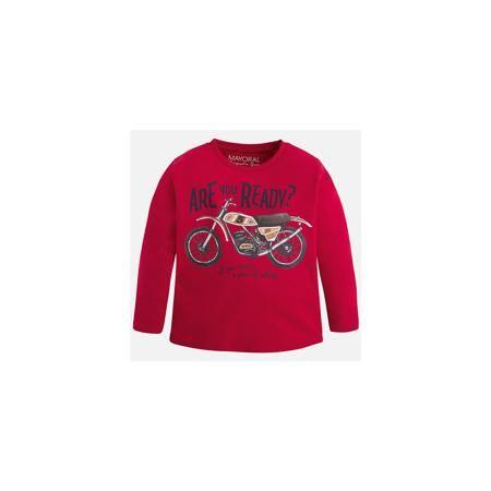Mayoral Футболка с длинным рукавом для мальчика Mayoral  — 1289р.  Хлопковая футболка с длинными рукавами - это  базовая вещь в любом гардеробе. Благодаря длинным рукавам и легкому составу, ее можно носить в любое время года, а яркий орнамент, подчеркнет индивидуальный стиль Вашего ребенка!  Дополнительная информация:  - Крой: прямой крой. - Страна бренда: Испания. - Состав: хлопок 90%, вискоза 10%. - Цвет: красный. - Уход: бережная стирка при 30 градусах.  Купить футболку с длинным рукавом…