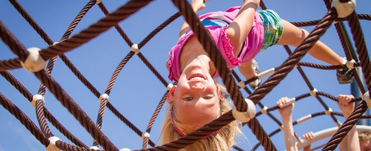 KidNetix Ropes Course freestanding nets are a fun and exciting way to add climbing play to your park or playground.