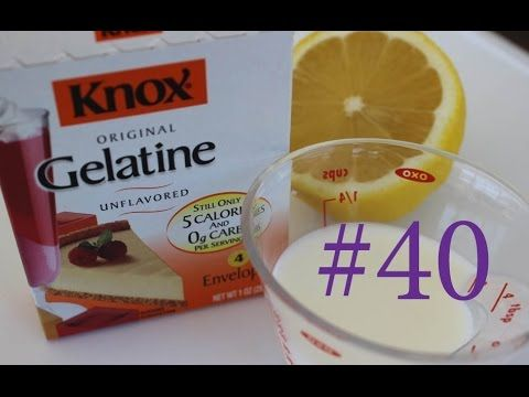 #40 Gelatin Face mask. Маска для Лица Желатин Лимон Молоко