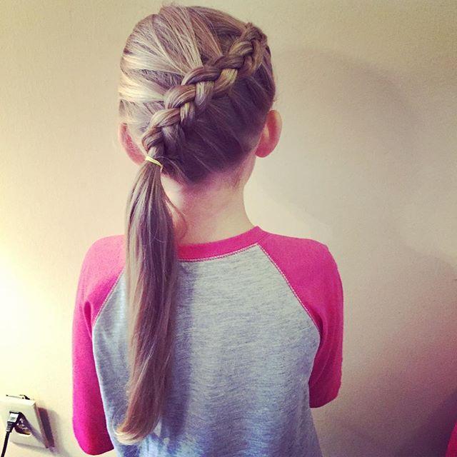 Top 100 little girl hairstyles photos Simple diagonal dutch braid with a side pony #braids #braidsfordays #kidhairstyles #braidideas #braidstyles #ponytail #sidepony #littlegirlhairstyles #kindergartenrocks #hairoftheday #hotd #hairofig #kidhairinspiration